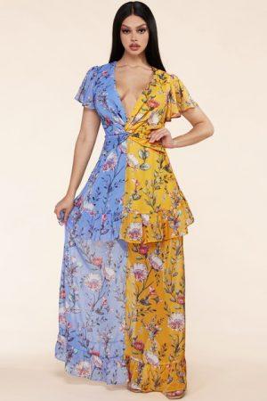 Parti-Flower Dress