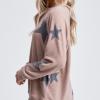 Coco Star Set 100x100 Pink Tie Dye Lounge Top