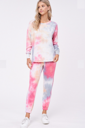 Pink Tie Dye Lounge Bottom
