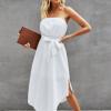 Dress1 100x100 Strapless Solid Ruffle Mini Dress