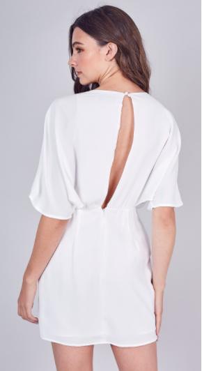 Deep V-Neck Wide Sleeve Dress