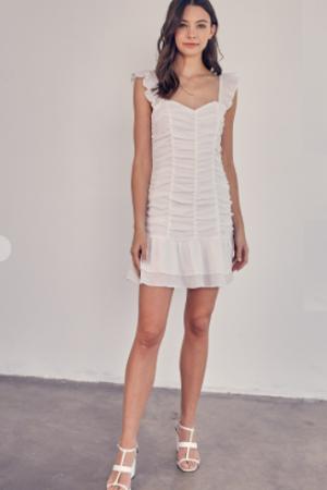 Ruched Ruffle Dress