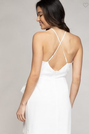 Wrap High Neck Mini Dress