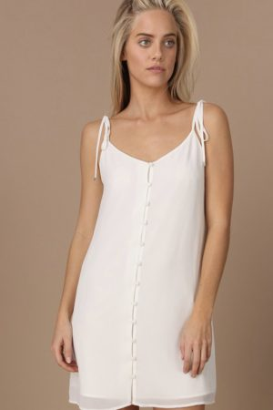 Button Down Slip Dress