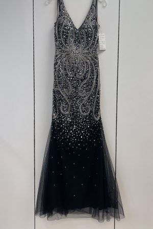 Lucci Lu 95153 Prom Gown in Black Size 12