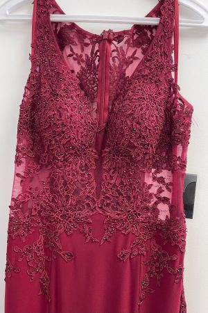 Nox Prom Gown in Wine Size