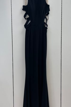Faviana 8018 Prom Gown in Black Size 6